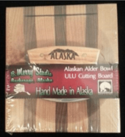 ULU CHOPPING BOARD SET ALDER HANDLE MOUNTAIN RANGE