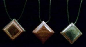 Dymondwood Square Pendant With String