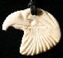 Moose Antler Eagle Head Pendant with string