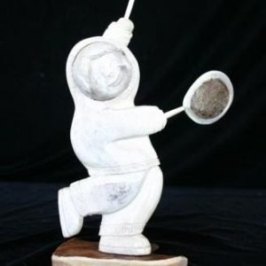 Moose Antler Eskimo Figurine Doll Drummer boy