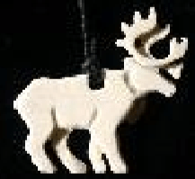 Moose Antler Walking Caribou Pendant with string