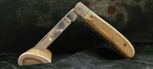 Stainless Steel Folder with 10,000 yr. old Mammoth Bone handle