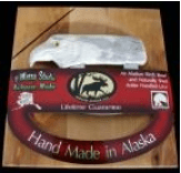 ULU CHOPPING BOARD WITH MOOSE ANTLER EAGLE HEAD ULU