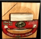 ULU CHOPPING BOARD WITH MOOSE ANTLER ULU POLISHED