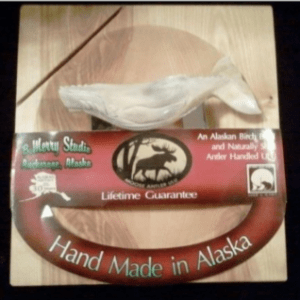 ULU CHOPPING BOARD WITH MOOSE ANTLER WHALE ULU