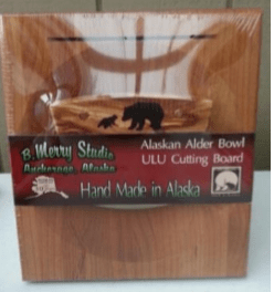 ULU CHOPPING BOARD SET ALDER HANDLE BEAR/CUB