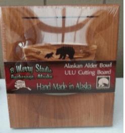 ULU CHOPPING BOARD SET ALDER HANDLE BEAR/CUB