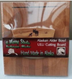 ULU CHOPPING BOARD SET ALDER HANDLE MOOSE/CUB