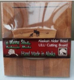 ULU CHOPPING BOARD SET ALDER HANDLE MOOSE/CUB