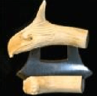 Ulu Caribou Antler Eagle Head with Tine polished